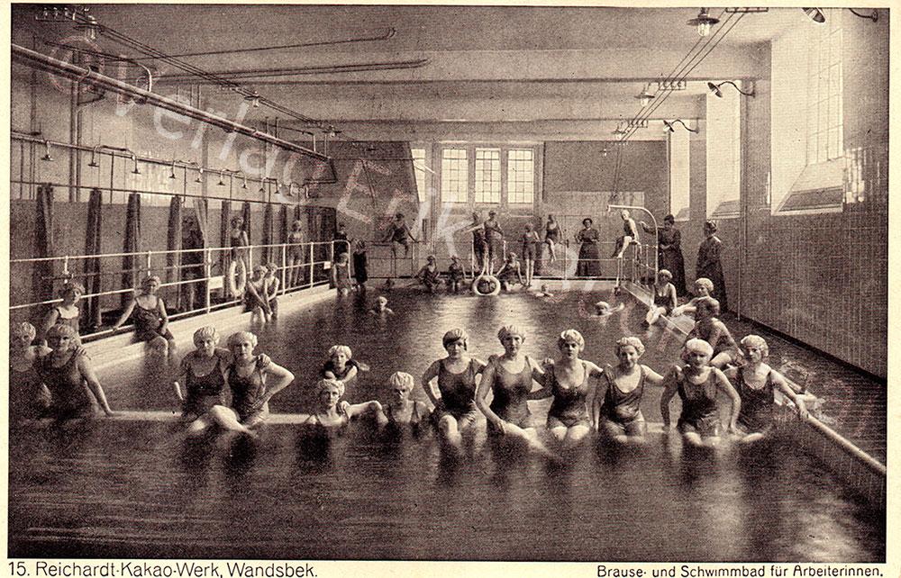 Postkarte Schwimmbad Reichardt